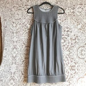 7 For All Mankind Gray Cotton Quilt Top Dress M